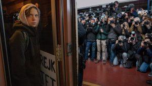 Greta Thunberg llegando a Madrid